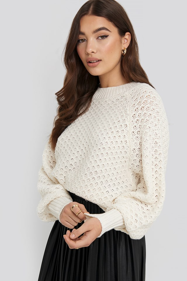 Batwing Knitted Sweater NA-KD