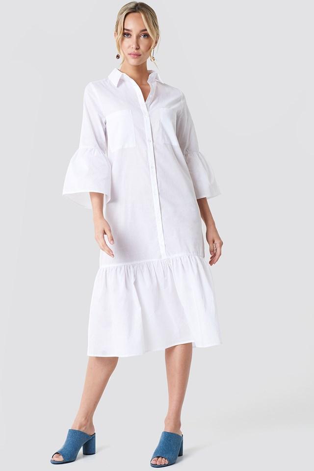 Bell Sleeve Shirt Dress NA-KD Boho