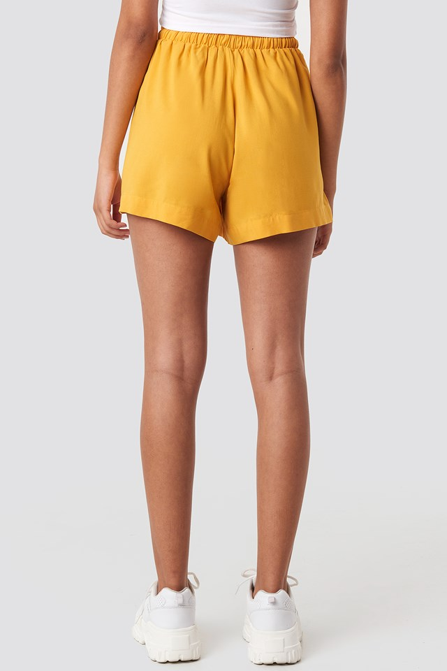 Belted Flowing Shorts Citrus