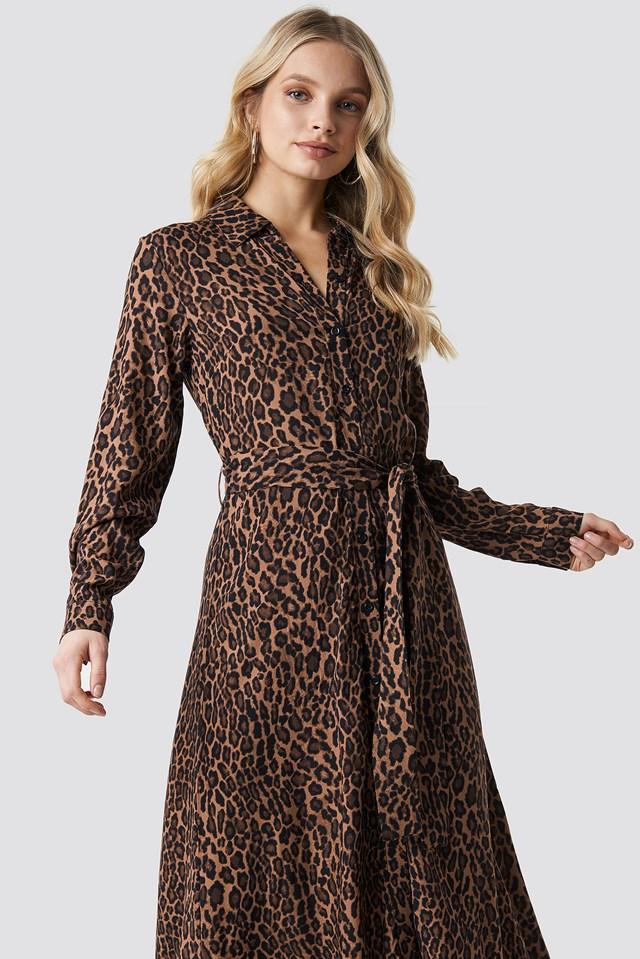 Belted Leo Ankle Dress NA-KD Trend