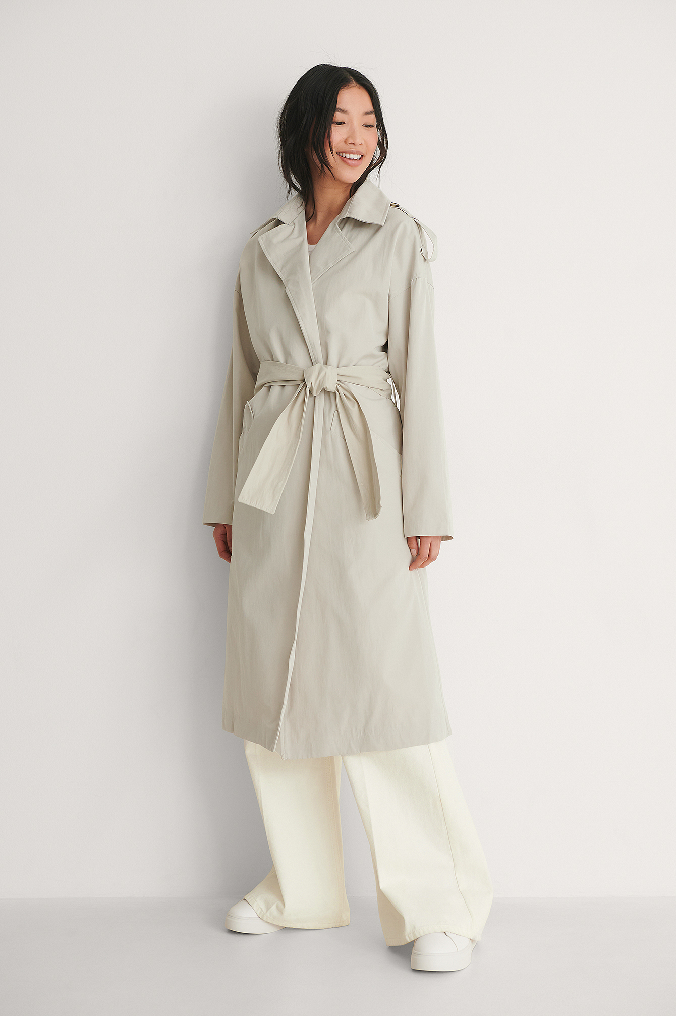 Stone Belted Trenchcoat
