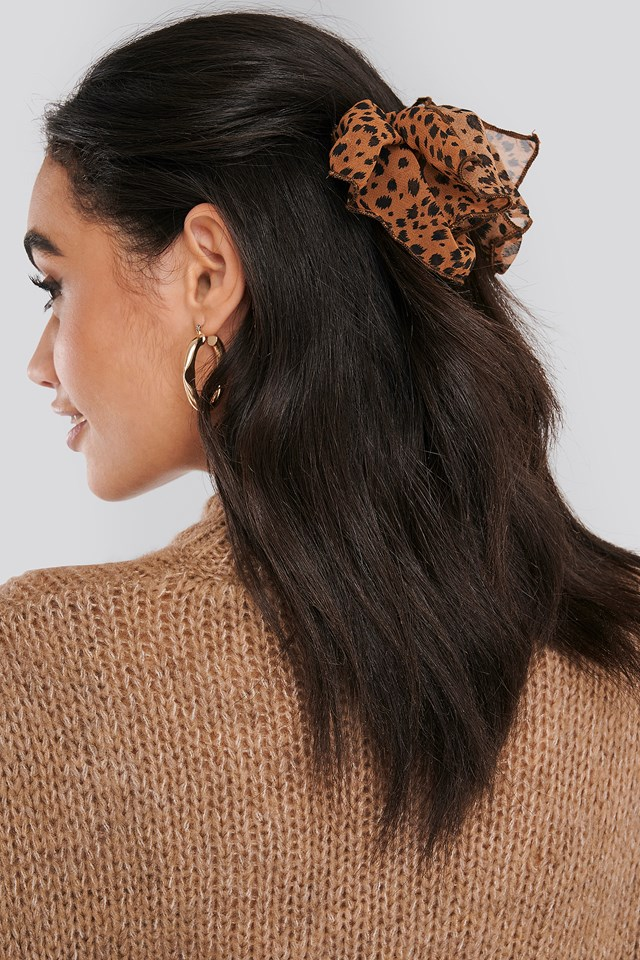 Big Bow Hair Clip Brown