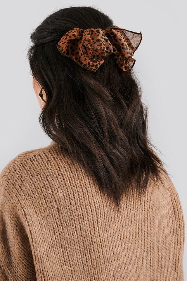 Big Bow Hair Clip Brown