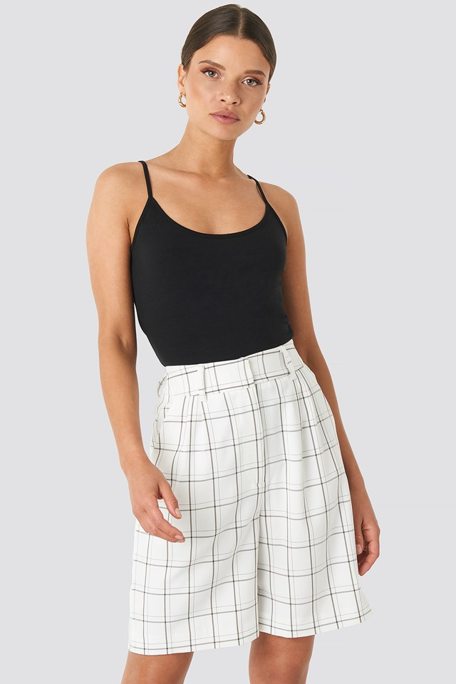 Big Check Bermuda Shorts White/Black
