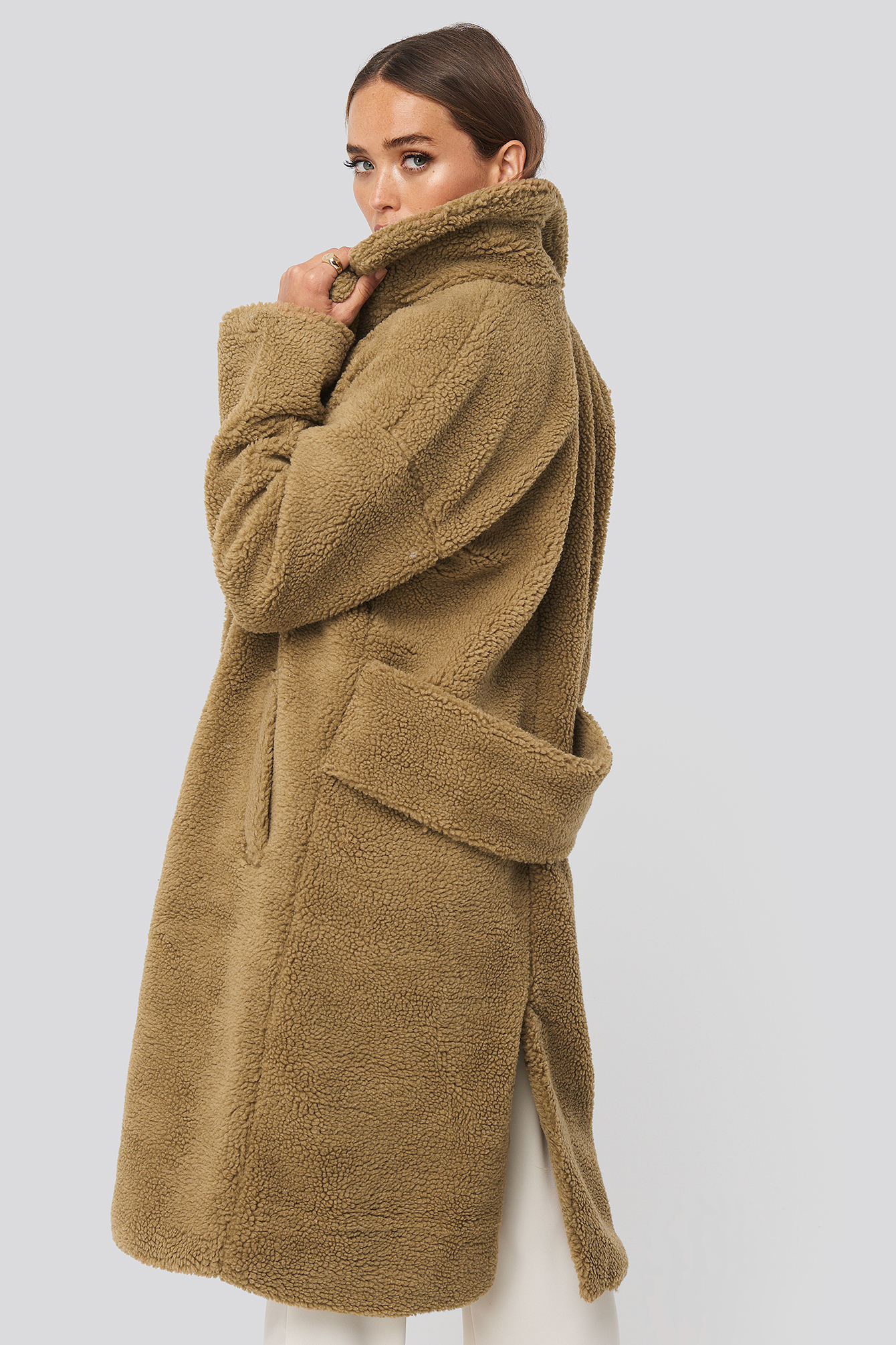 Brown Big Collar Teddy Coat