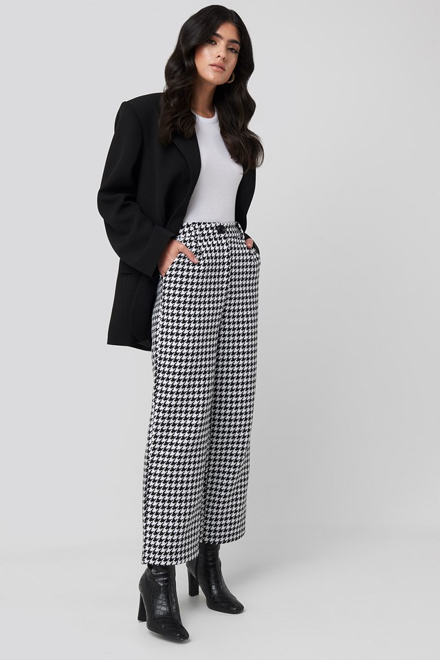 Big Dogtooth Trousers NA-KD Classic