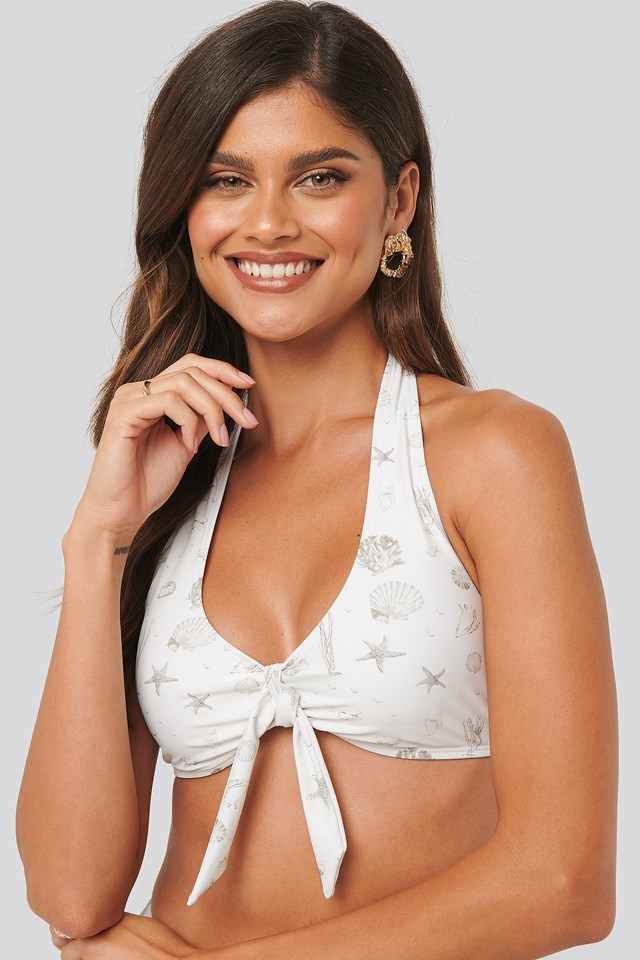 Big Knot Bikini Top Sea Shell