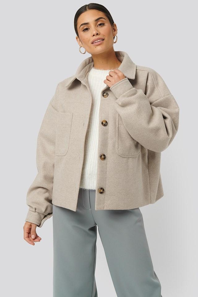 Big Sleeve Oversized Jacket Beige