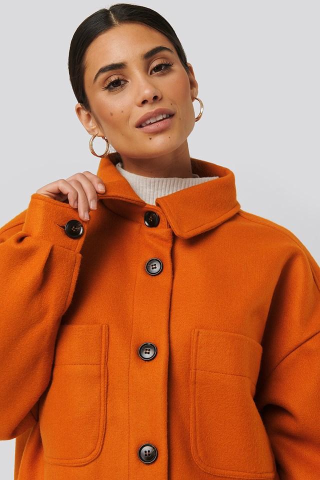 Big Sleeve Oversized Jacket Orange