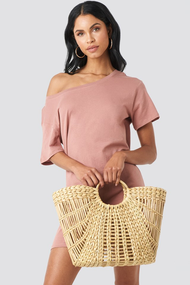 Big Strawy Basket Bag NA-KD Accessories