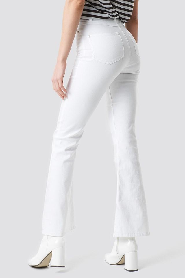Bootcut Jeans White