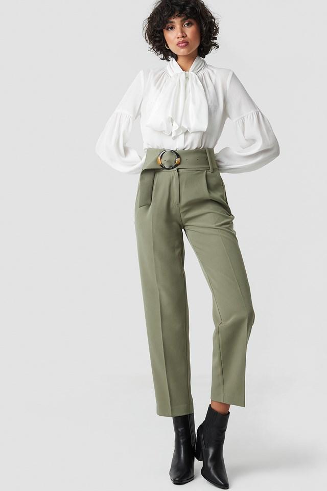 Bow Tie Blouse White