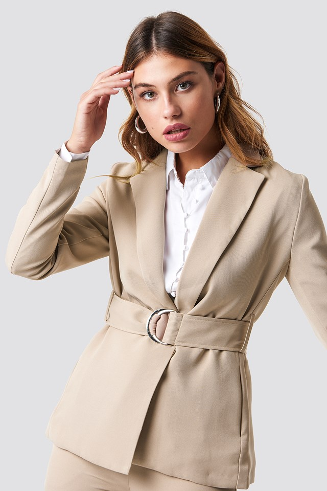 Buckle Belted Blazer NA-KD Classic