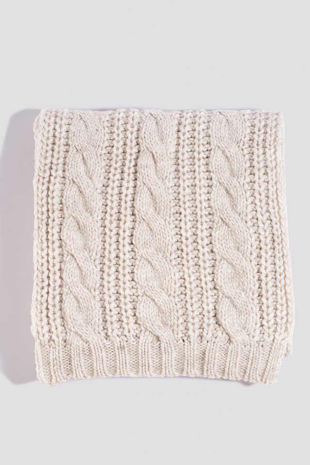 Cableknit Scarf Light Beige