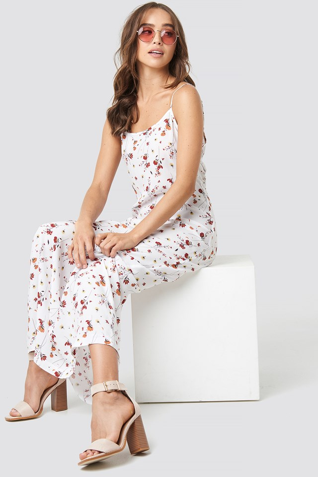 Cami Maxi Dress Red Flower