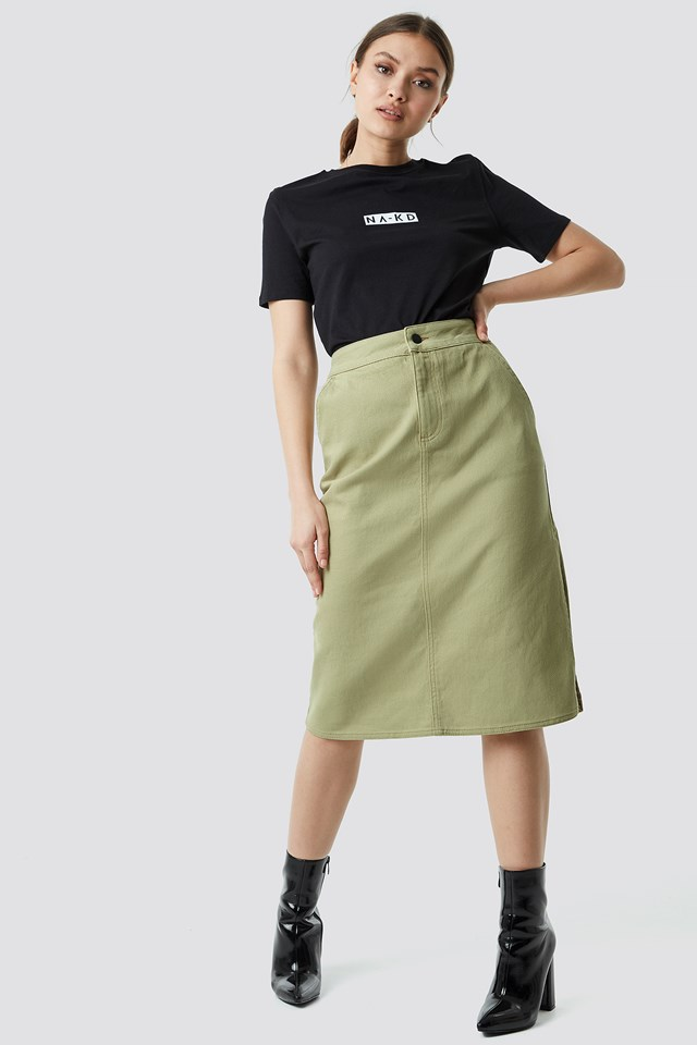 Cargo Skirt Green