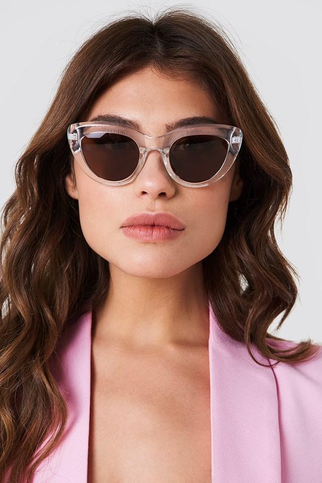 Cat Eye Sunglasses Transparent