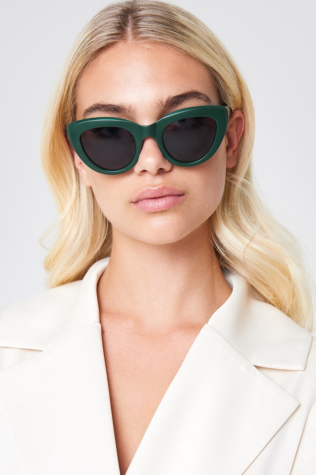 Cat Eye Sunglasses Dark Green