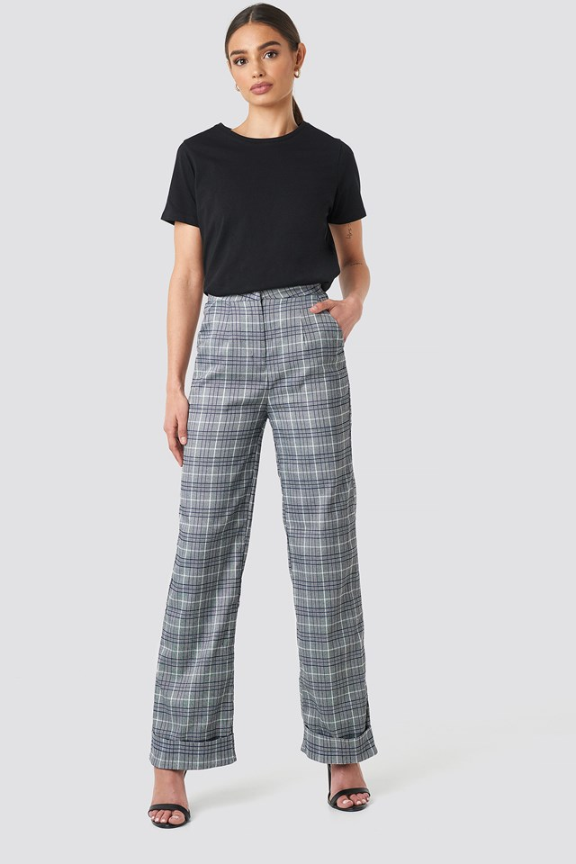 Checkered Tapered Pants NA-KD Classic