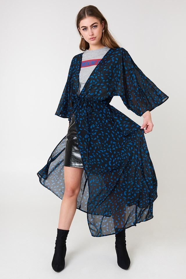 Chiffon Coat Dress NA-KD Boho