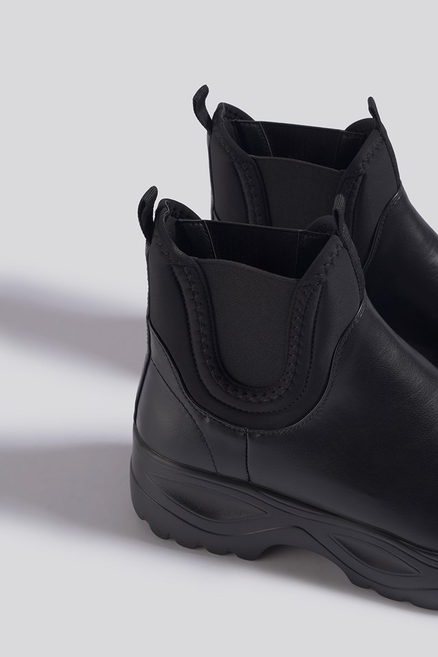 Chunky Chelsea Boots Black