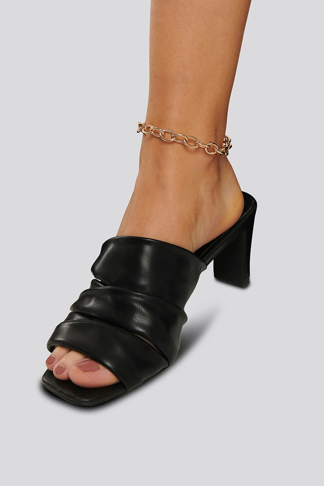Chunky Rounded Chain Anklet Gold