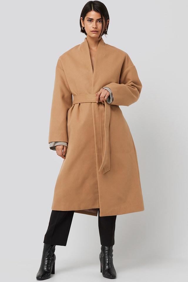 Classic Long Coat Camel