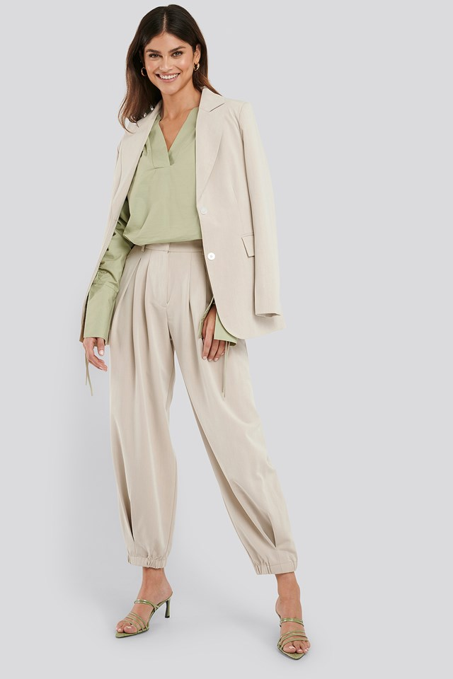 Cocoon Elastic Suit Pants Sand