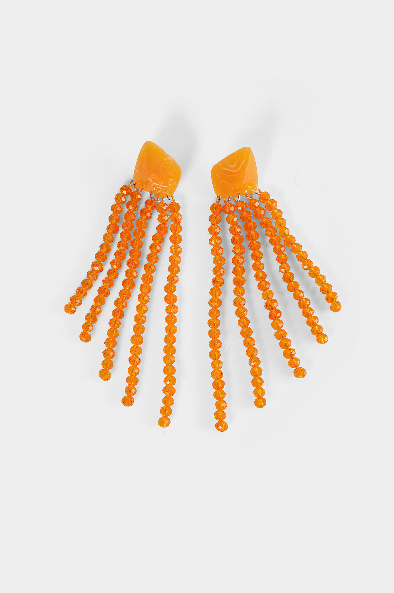 Orange Colorful Drop Bead Earrings