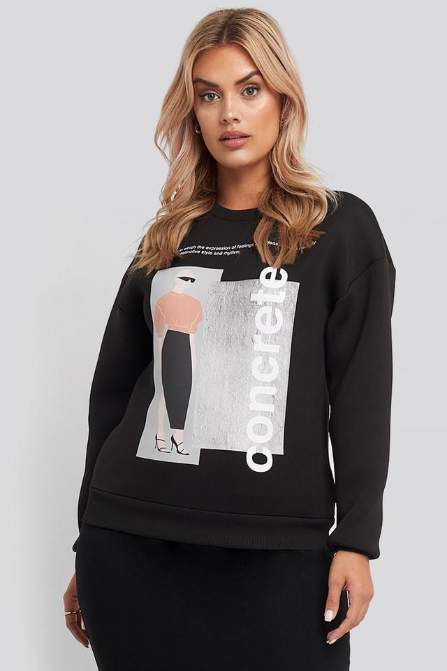 Concrete Sweatshirt Black