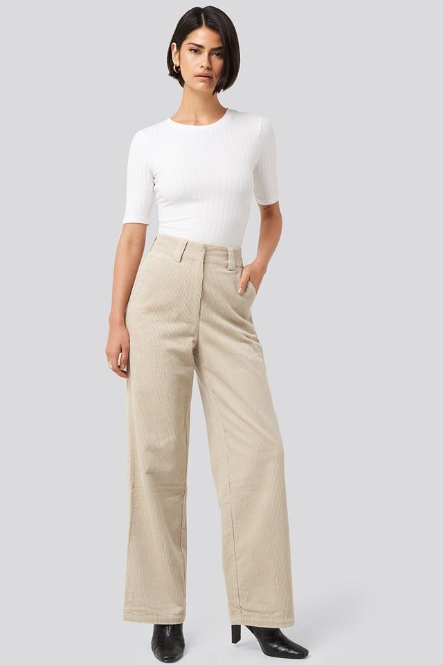 Corduroy Wide Leg Suit Pants NA-KD Classic