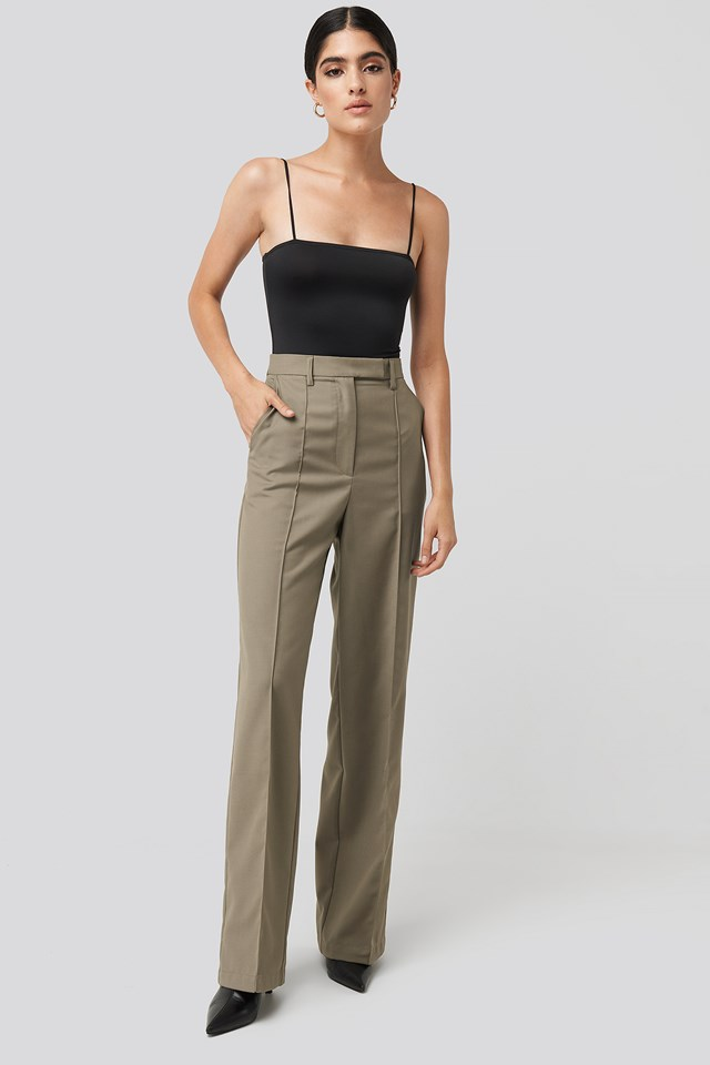 Creased Wide Leg Suit Pants NA-KD Classic