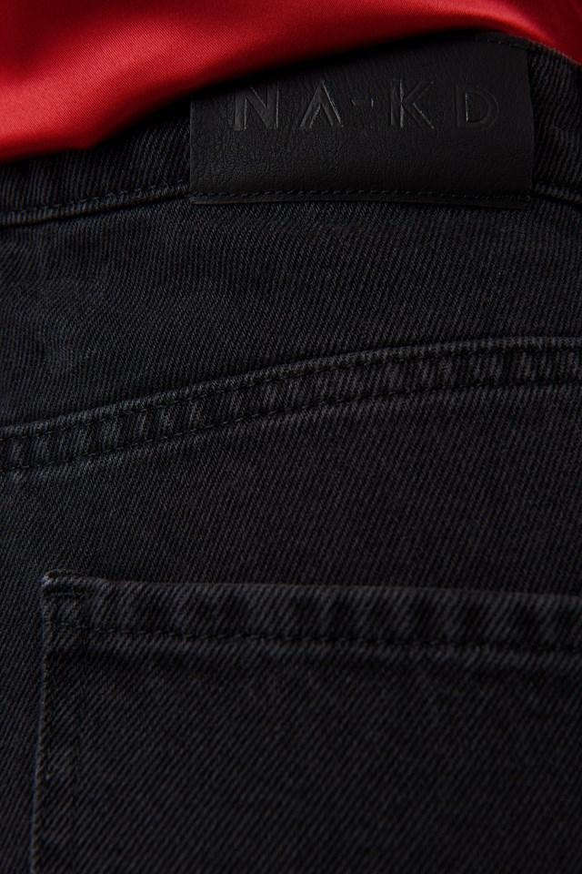 Cropped Balloon Leg Jeans Grey Wash