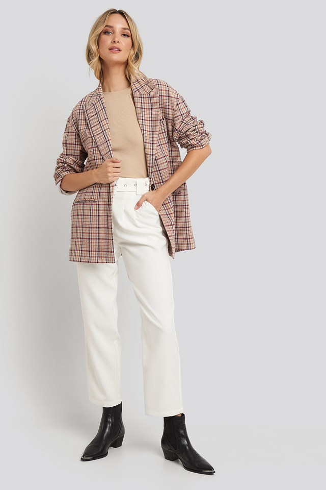 Cropped Belted Pants NA-KD Trend