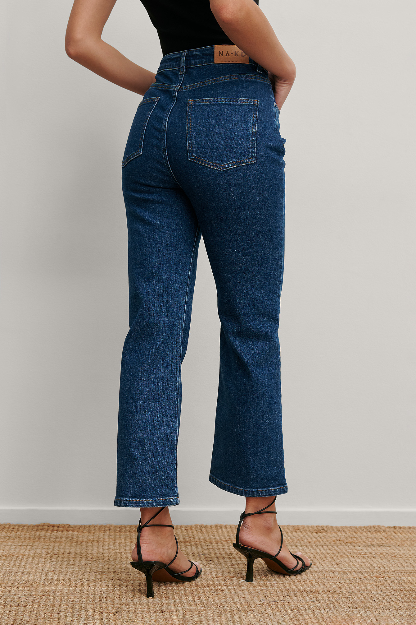 Blue Recycled Cropped Denim