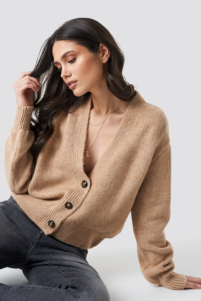 Cropped Oversized Cardigan NA-KD Trend