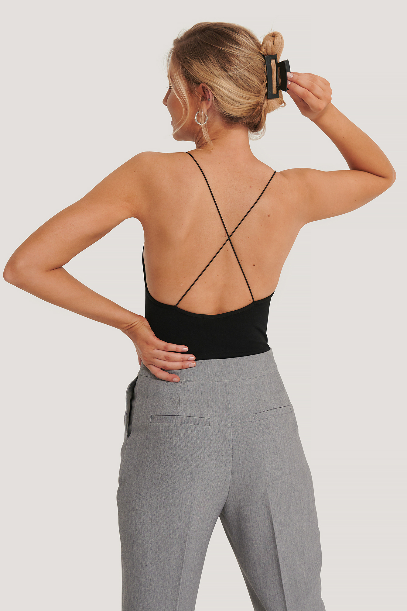 Black Cross Back Spaghetti Strap Body