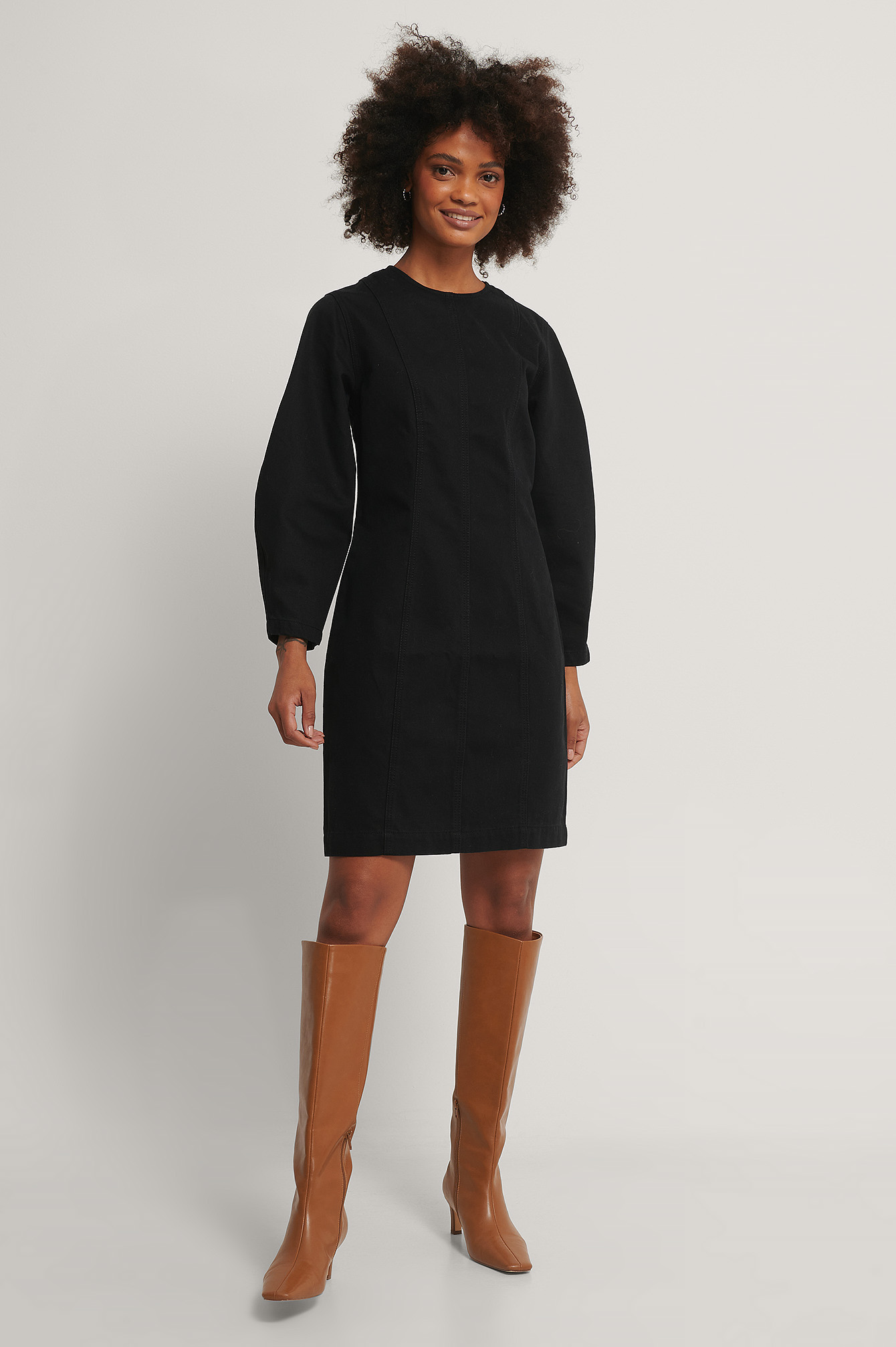 Washed Black Organic Denim Dress