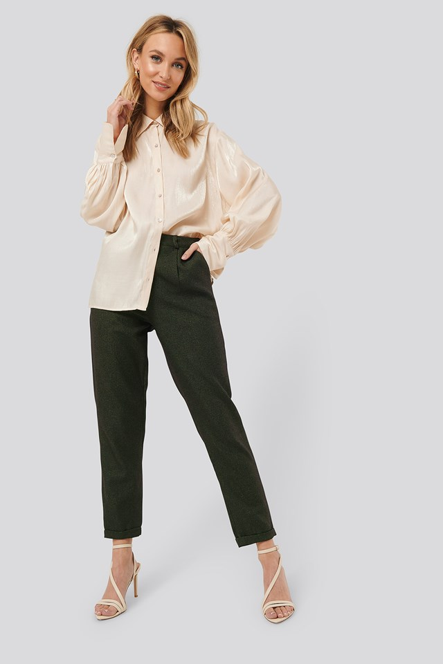 Detailed Trousers Khaki