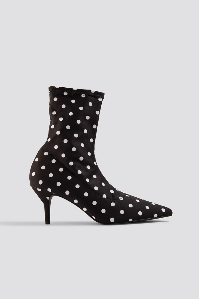 Dotted Sock Boots Dot Print