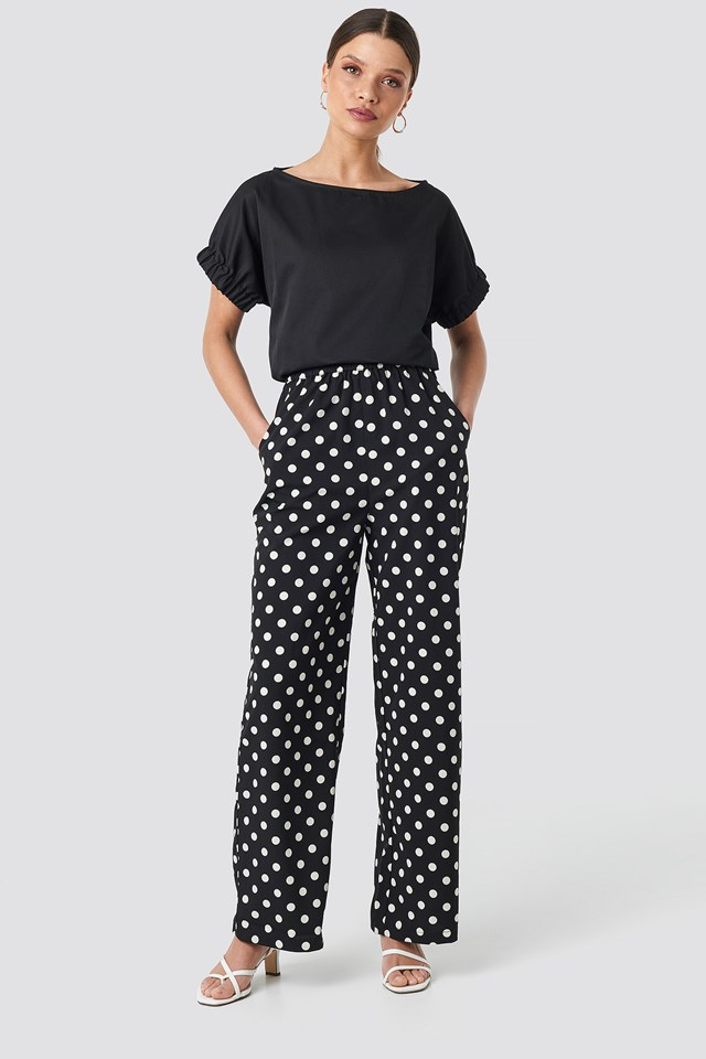 Dotted Wide Pants NA-KD