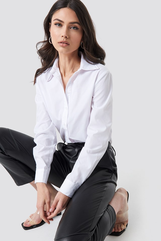 Double Collared Shirt White
