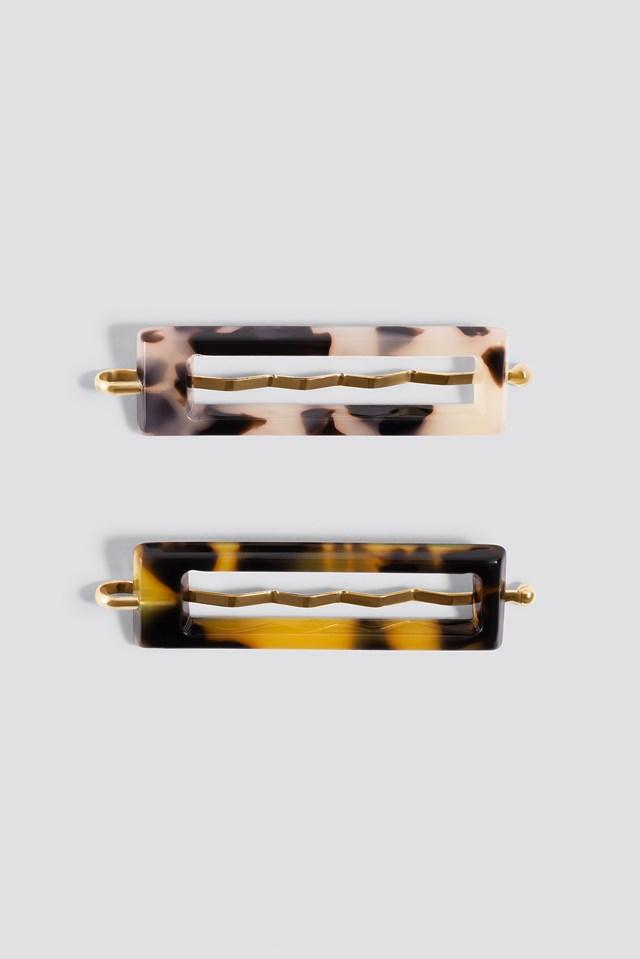 Double Pack Mini Resin Hair Pins Tortoise