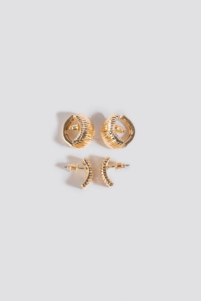 Double Pack Vintage Clip Earrings NA-KD Accessories