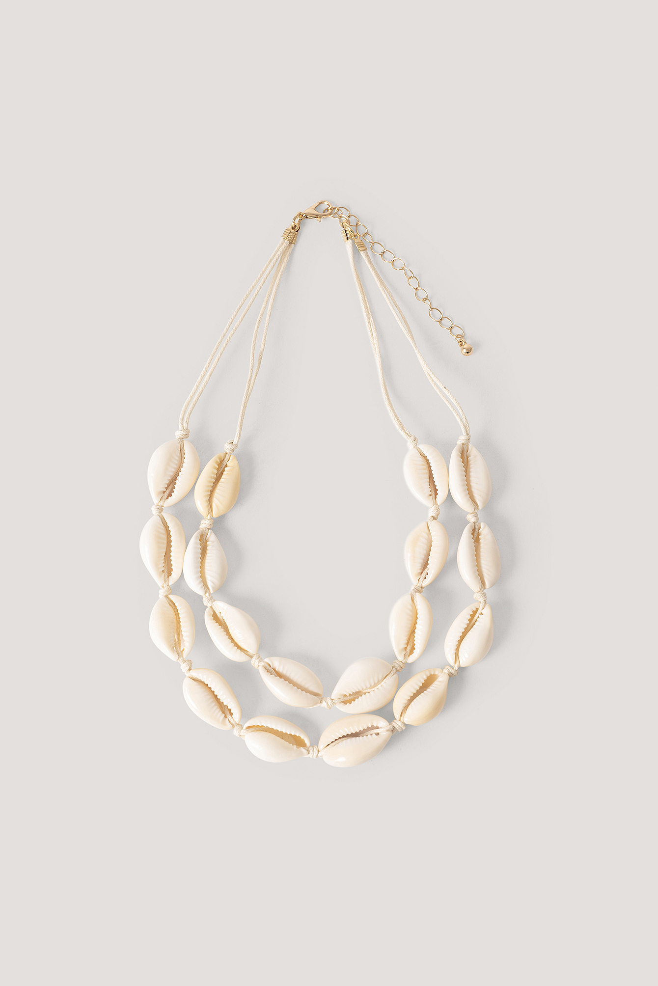 Natural Double Shell Layered Necklace