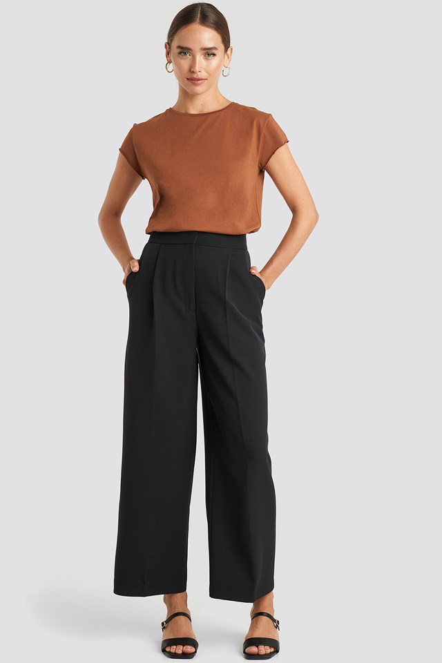 Elastic Detail Wide Pants NA-KD