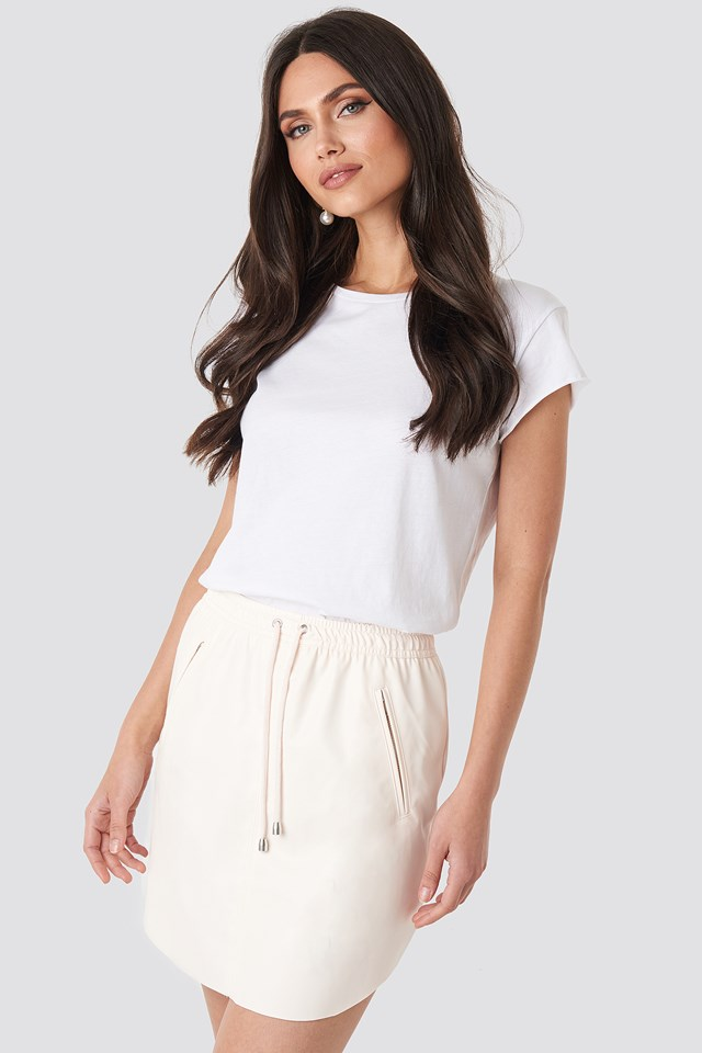 Faux Leather Casual Skirt NA-KD
