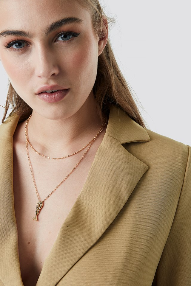 Female Pendant Necklace NA-KD Accessories