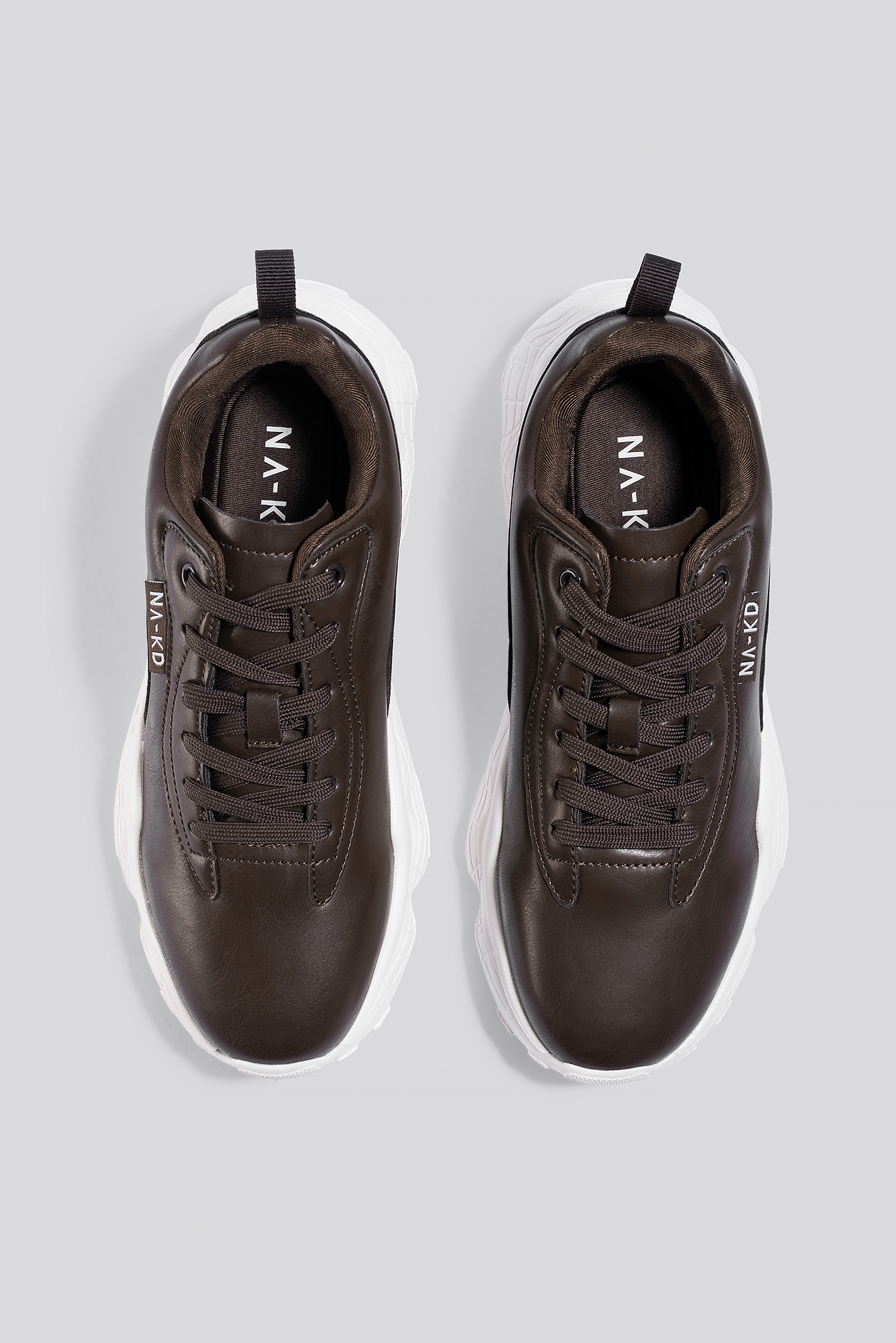 Dark Brown Flag Logo Chunky Trainers