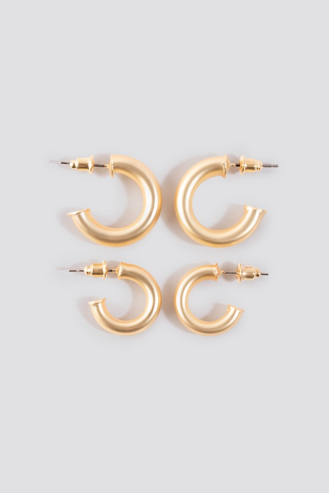 Flat End Mini Hoops (Double Pack) NA-KD Accessories